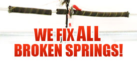 Broken Garage Door Spring michigan garage door spring repair mi- up and down door